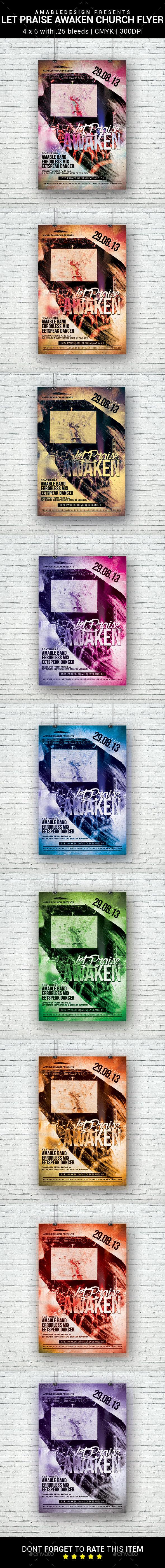 Let Praise Awaken Church Flyer - Church Flyers
