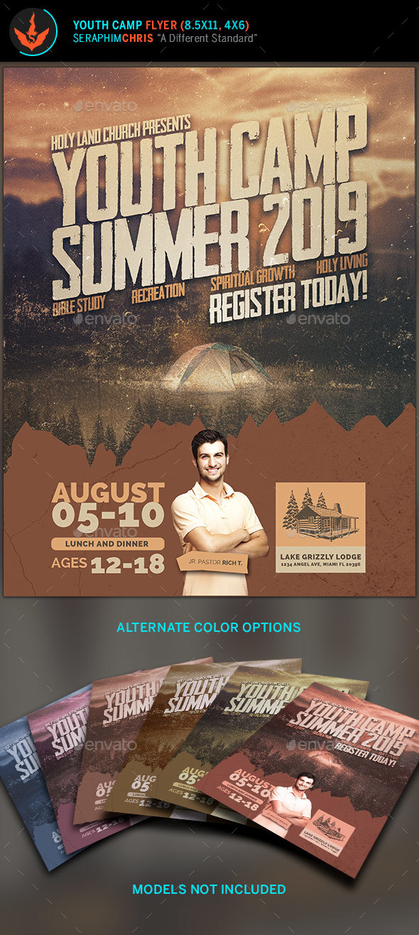 Youth Camp Flyer Template By Seraphimchris  Graphicriver