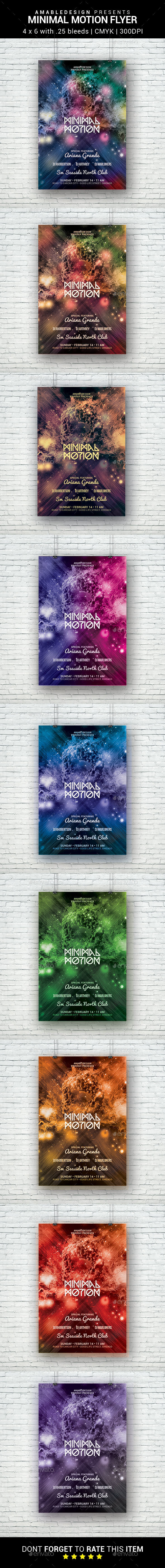 Minimal Motion Flyer - Clubs & Parties Events