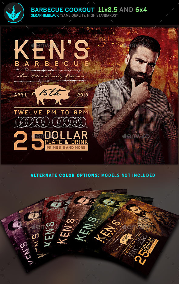 Barbecue Flyer Template - Flyers Print Templates