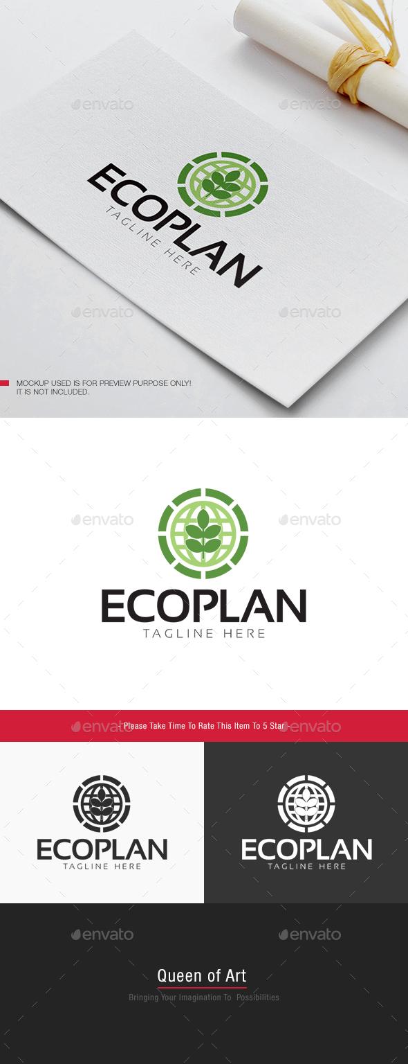 Eco Plant Logo - Nature Logo Templates