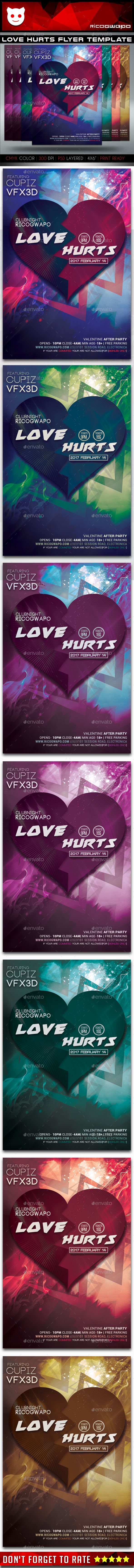 Love Hurts Flyer Template - Events Flyers
