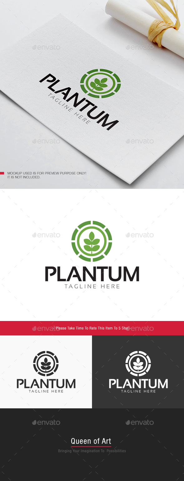 Plantum Logo - Nature Logo Templates