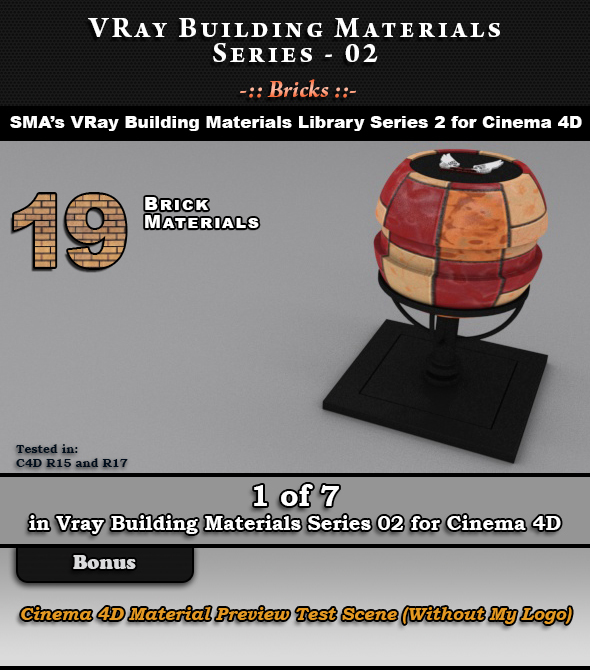 VRay Building Materials S02 - Bricks - 3DOcean Item for Sale
