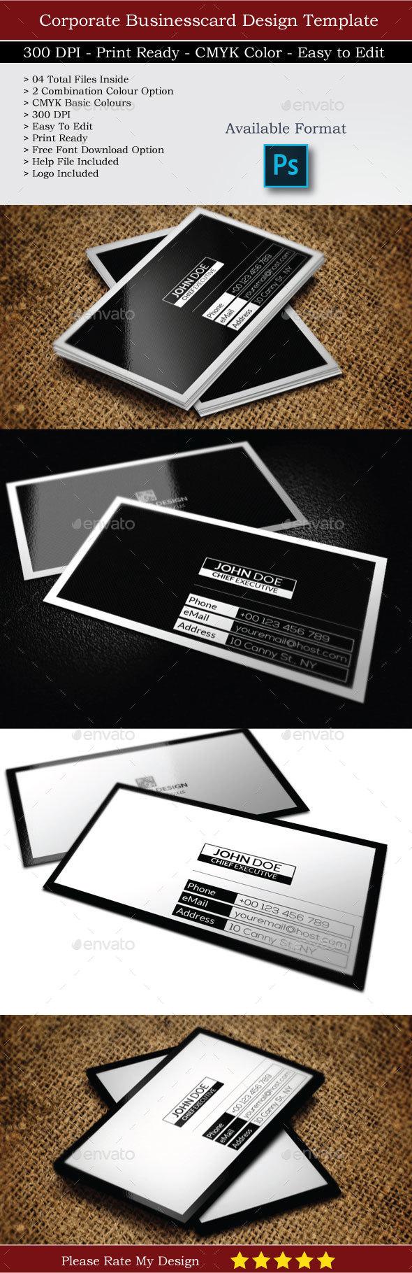 Creative Corporate Business Card Design - Business Cards Print Templates