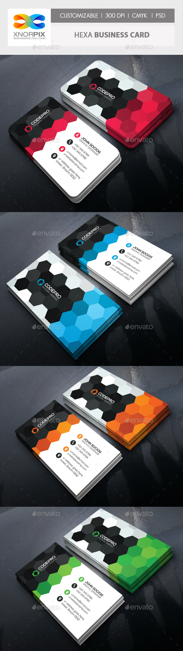 Hexa Business Card - Corporate Business Cards