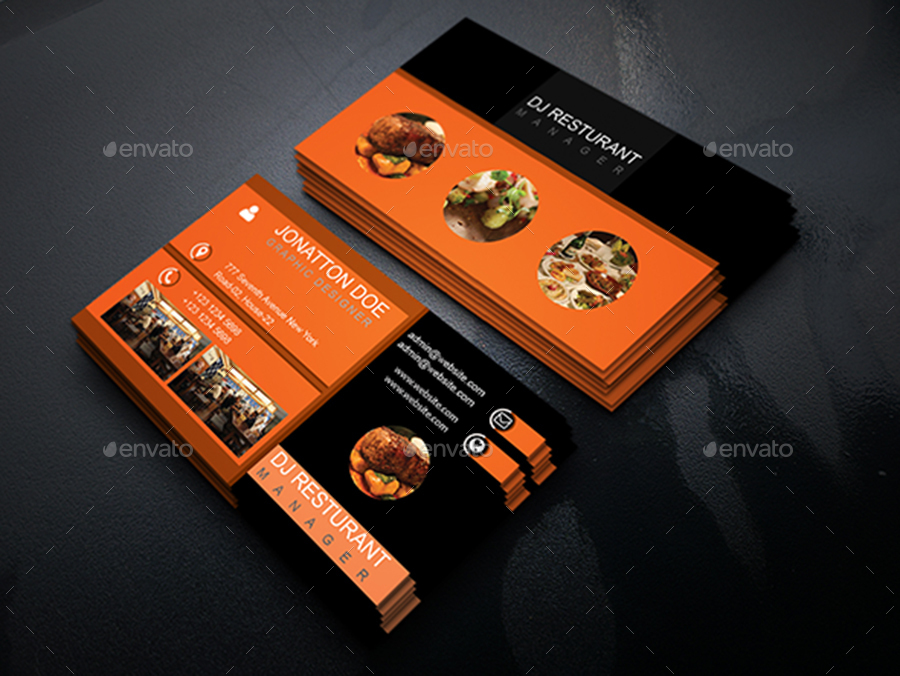 Classic restaurant business card template210 by newdesigner1985 business cards print templates screenshot1 screenshotg flashek