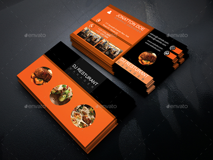 Classic restaurant business card template210 by newdesigner1985 business cards print templates screenshot1 screenshotg cheaphphosting