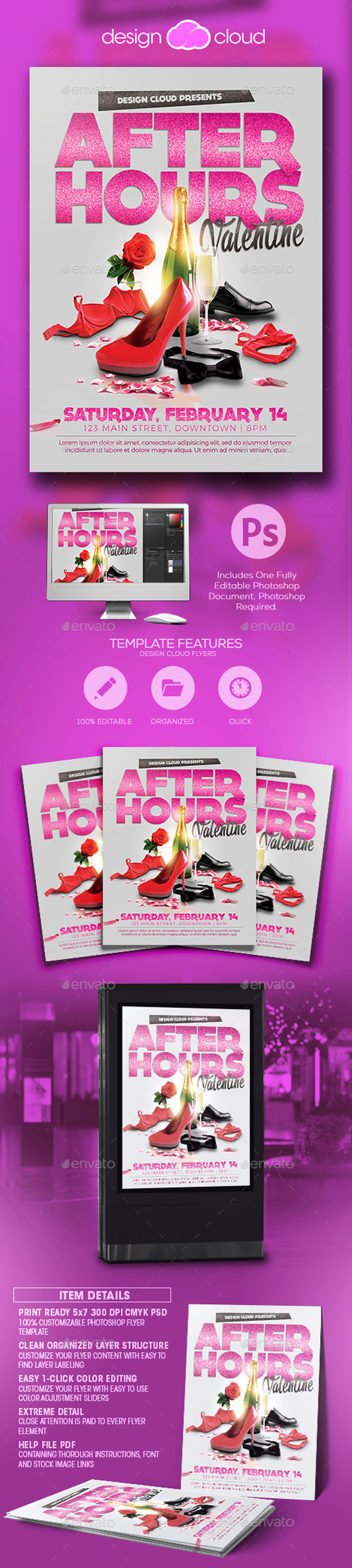 After Hours Valentine Flyer Template - Holidays Events