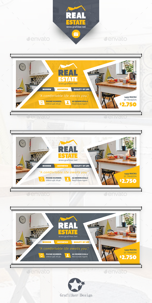Real Estate Billboard Templates - Signage Print Templates