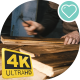 Carpenter Cleans Wooden Boards. . - VideoHive Item for Sale