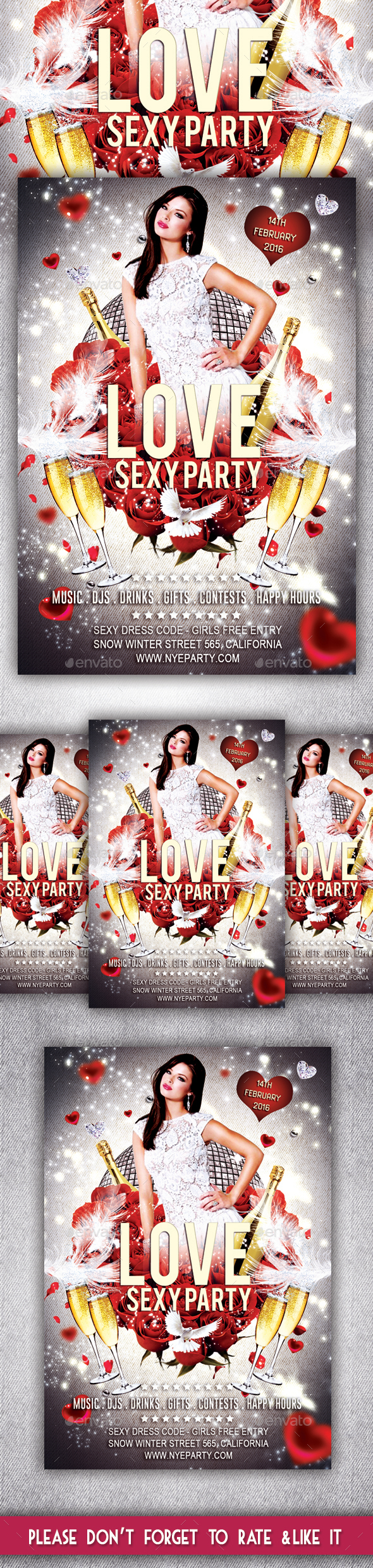 Love Sexy Party Flyer - Clubs & Parties Events