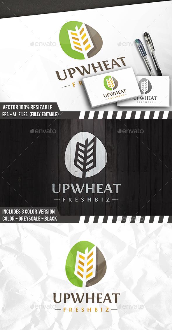 Wheat Modern Logo - Vector Abstract