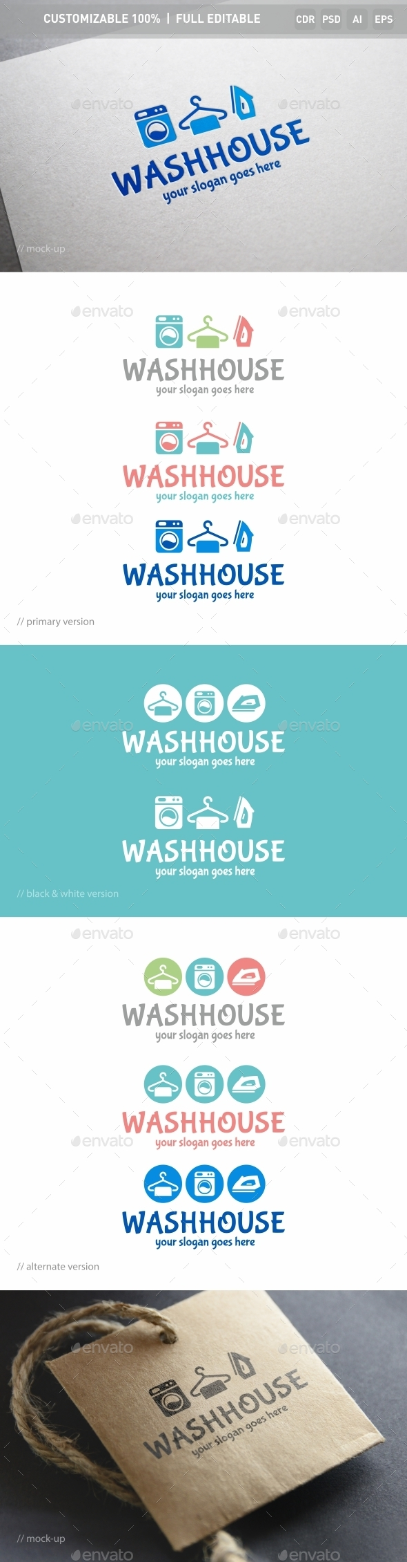 Washhouse Logo Template - Objects Logo Templates