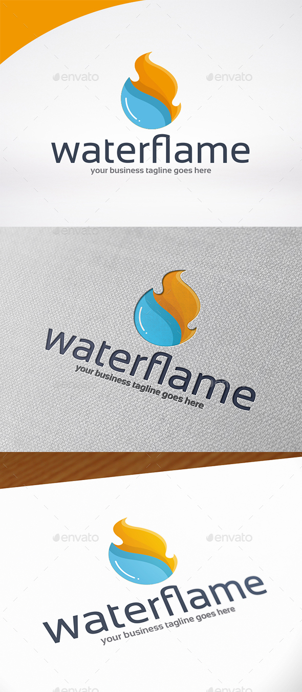 Fire Water Logo Template - Symbols Logo Templates