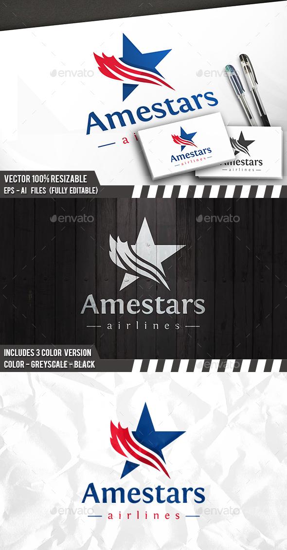 America Star Logo - Symbols Logo Templates