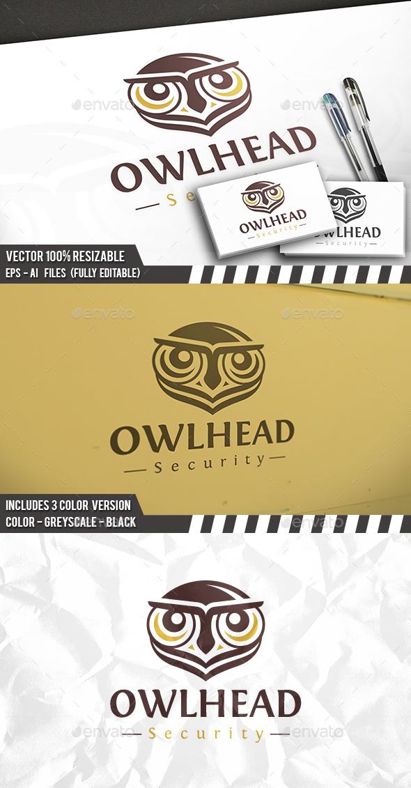 Owl Head Logo - Animals Logo Templates