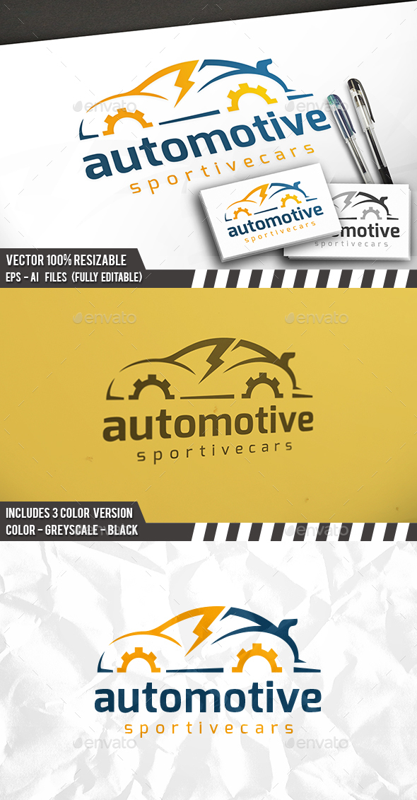 Fast Car Logo - Objects Logo Templates