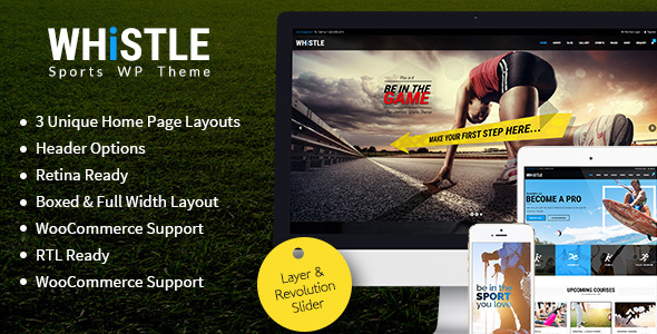 Whistle – Sports, Gym, Fitness Responsive WordPress Theme