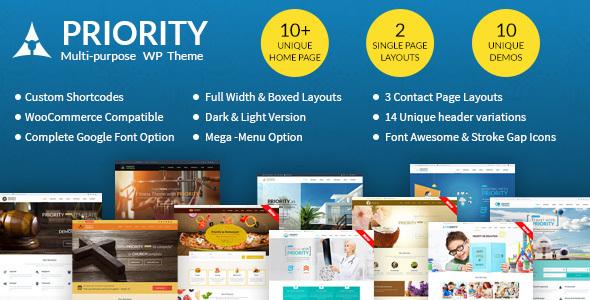 Priority - Multipurpose WordPress Theme