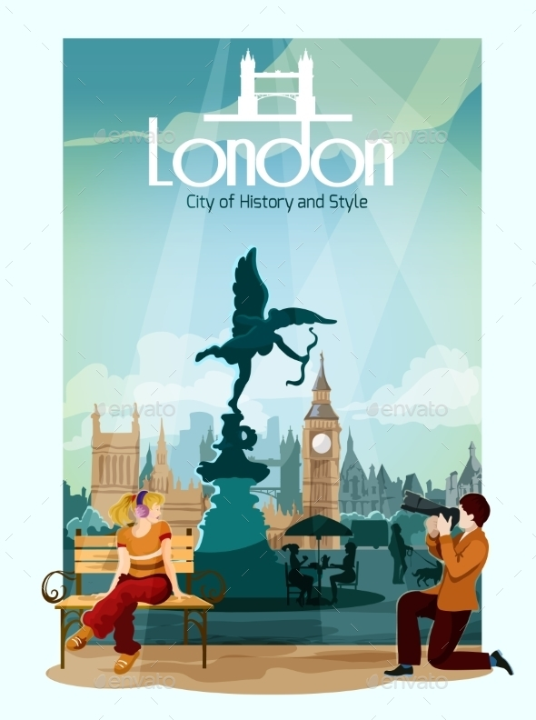 London Poster Illustration - Travel Conceptual