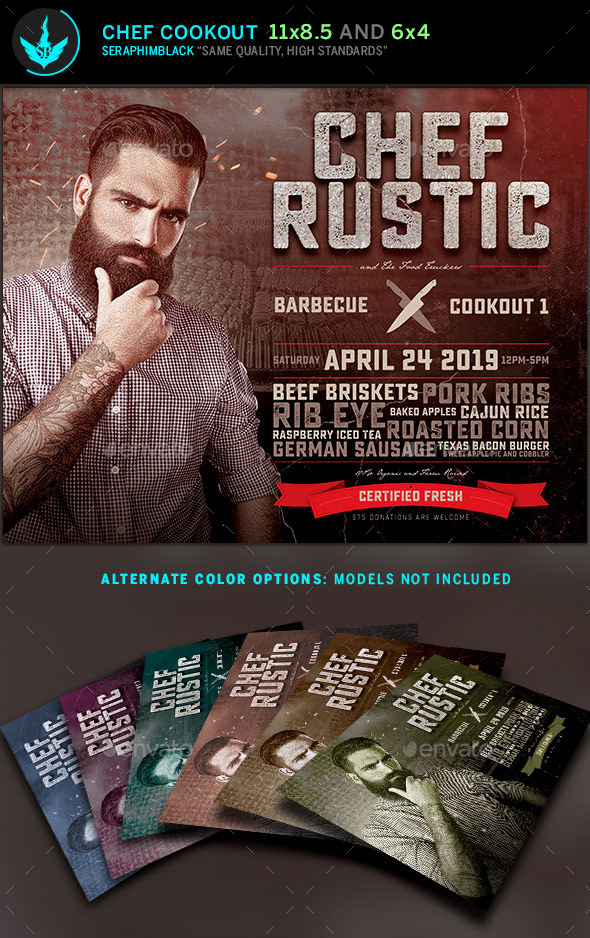 Chef Cookout Flyer Template By Seraphimblack Graphicriver