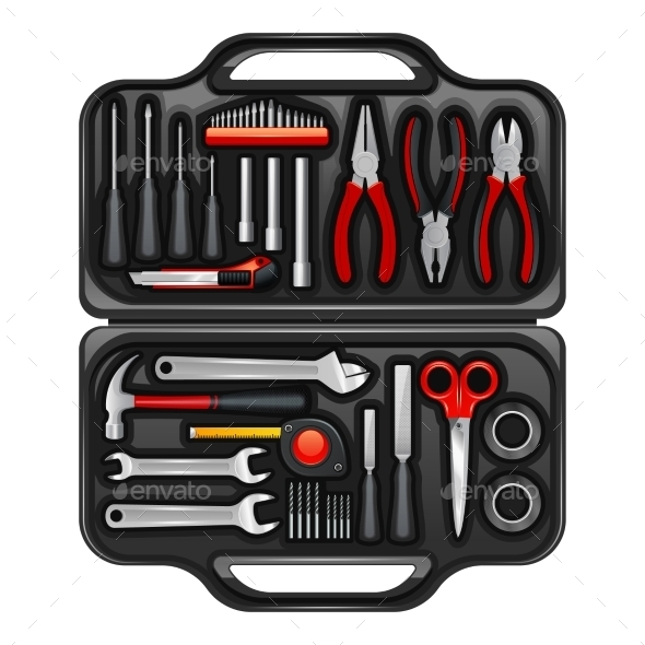Tool Box With Toolkit Set - Technology Conceptual