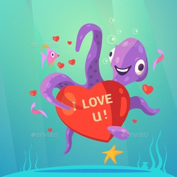Valentine Day Retro Cartoon - Seasons/Holidays Conceptual