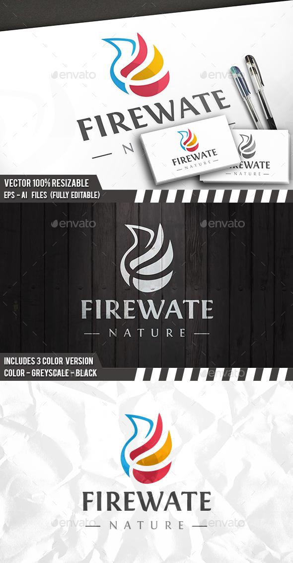 Fire Water Logo - Nature Logo Templates