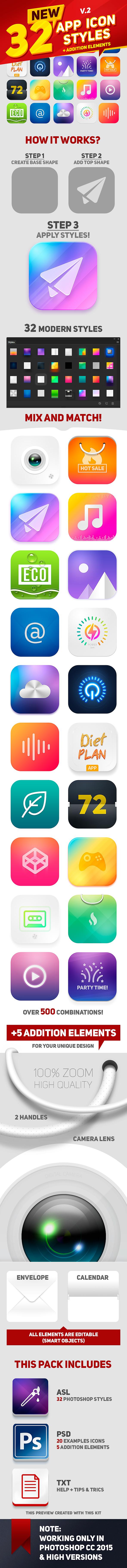 32 Icon App Styles - Miscellaneous Styles