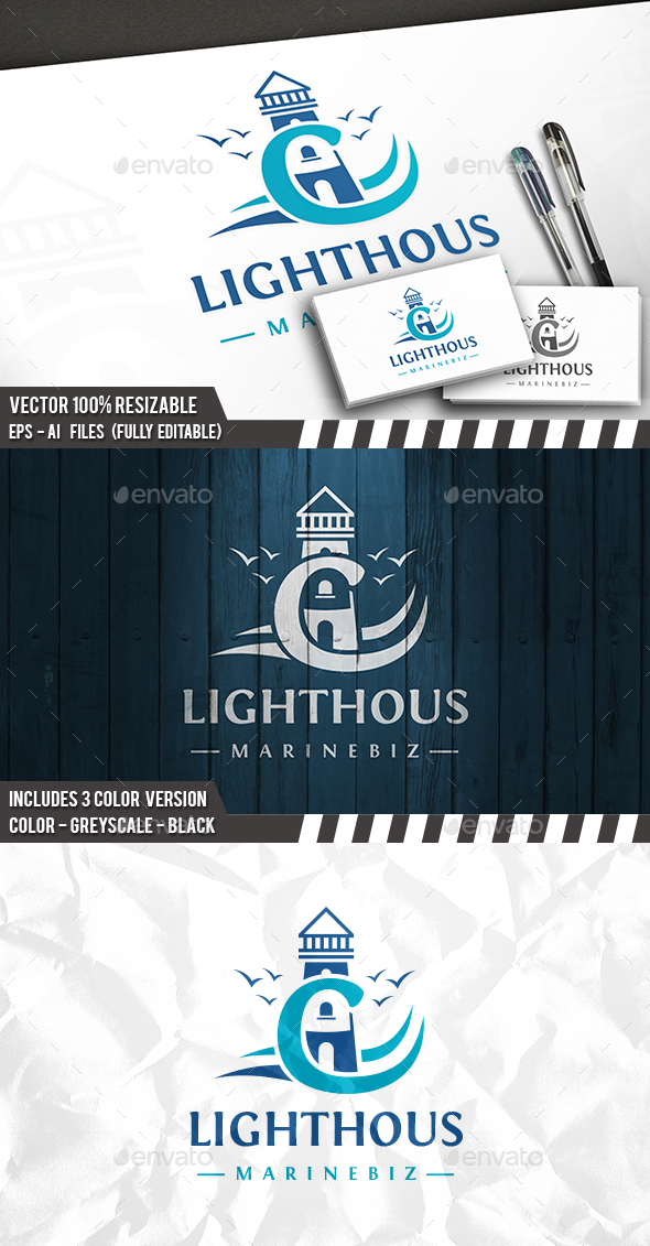 Capital Lighthouse Logo - Letters Logo Templates