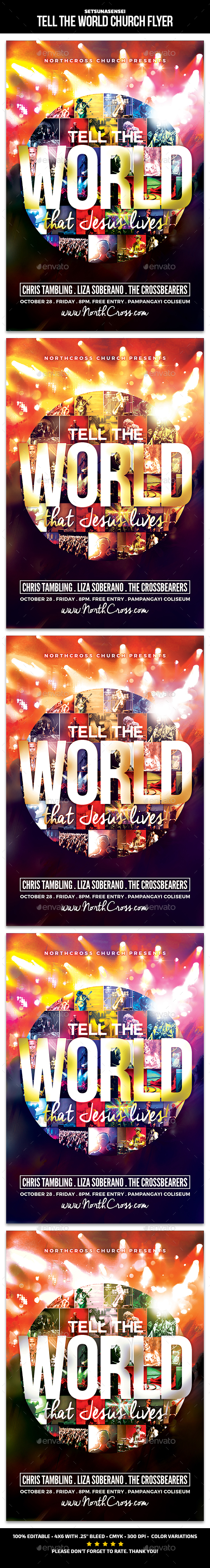 Tell the World Church Flyer - Church Flyers