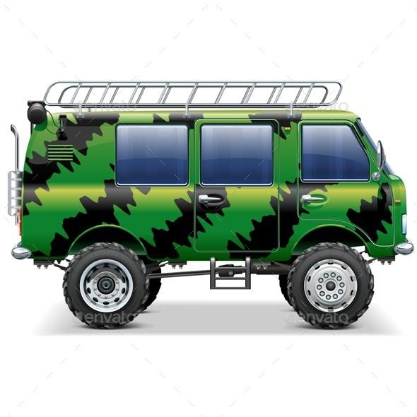 Vector Offroad Travel Car - Travel Conceptual
