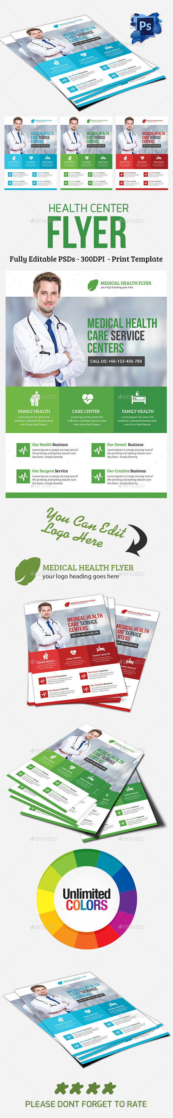 Medical Health Center - Corporate Flyers
