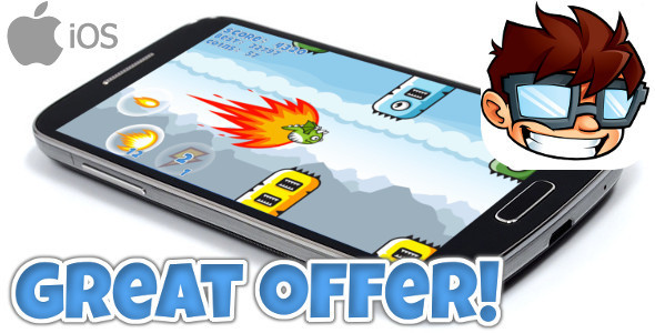 Flappy Clumsy Dragon iOS + IN APP PURCHASE + ADMOB // iADS + MORE - CodeCanyon Item for Sale