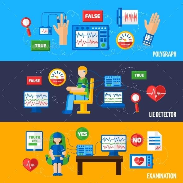 Lie Detector Banners - Technology Conceptual