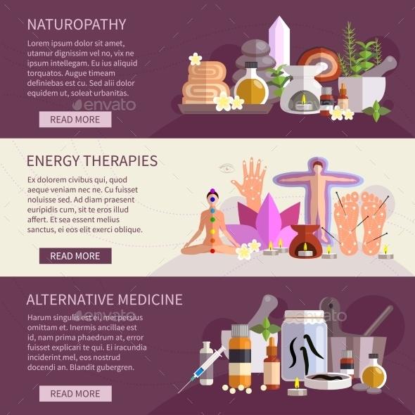 Alternative Medicine Banners - Health/Medicine Conceptual
