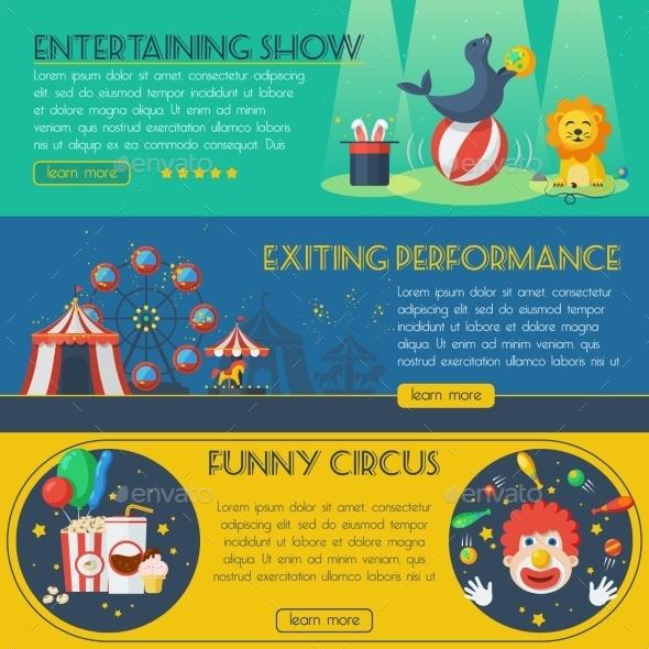 Circus Banner Set - Business Conceptual