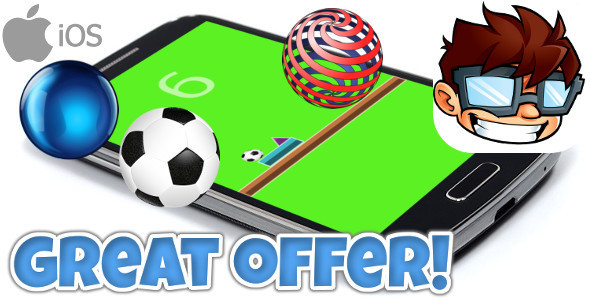 Bouncing Ball iOS + IN APP PURCHASE + Admob // iADs + GAME CENTER - CodeCanyon Item for Sale