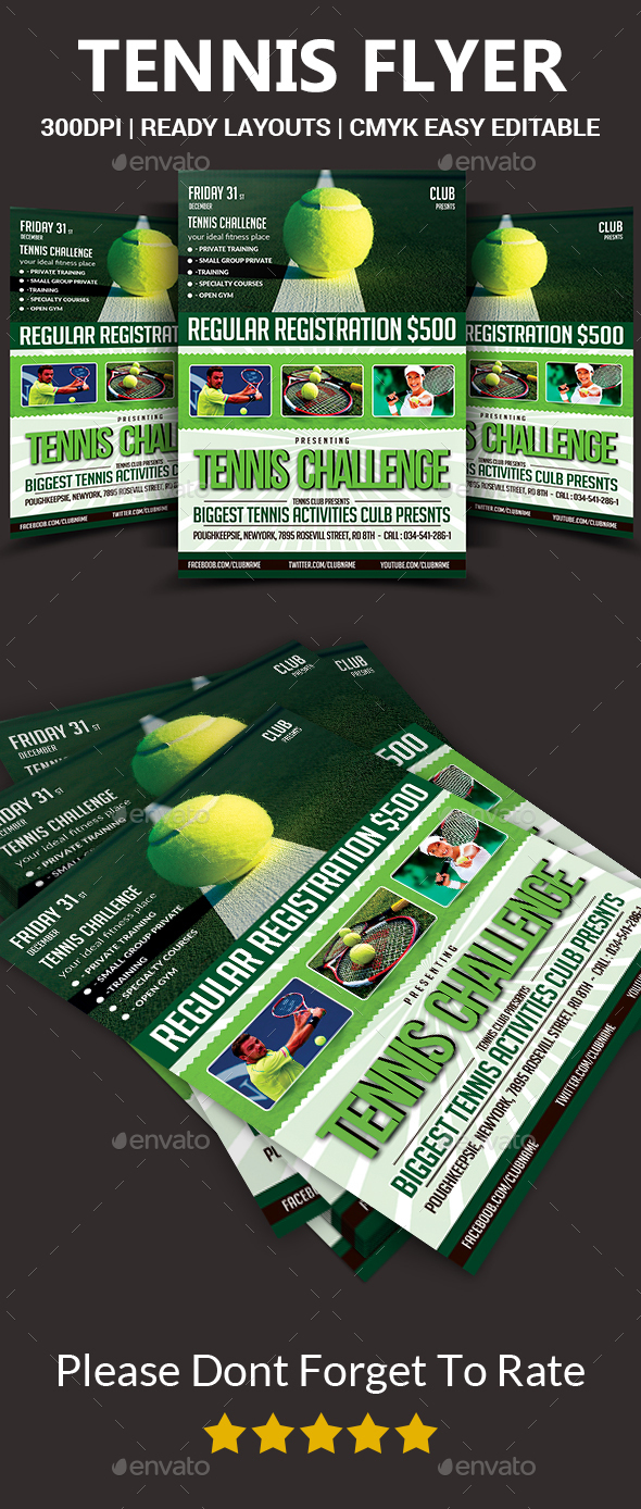 Tennis Flyer Template  - Sports Events