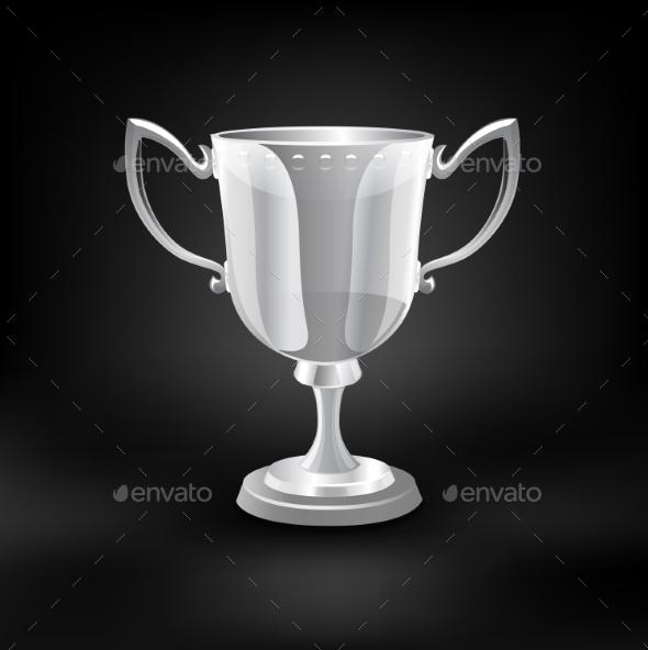 Trophy Cup Vector. - Health/Medicine Conceptual