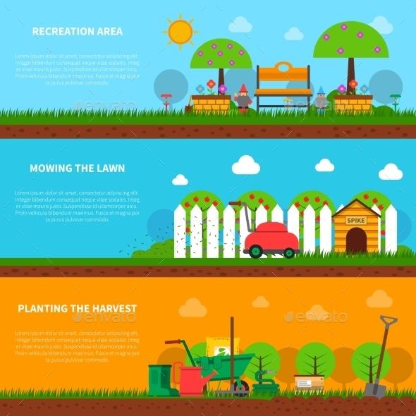 Gardening Banner Set - Nature Conceptual