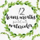12 Watercolor Leaves Wreaths - GraphicRiver Item for Sale