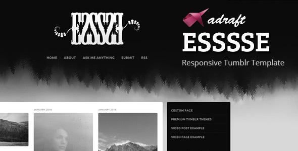 ESSSSE – Responsive Tumblr Theme
