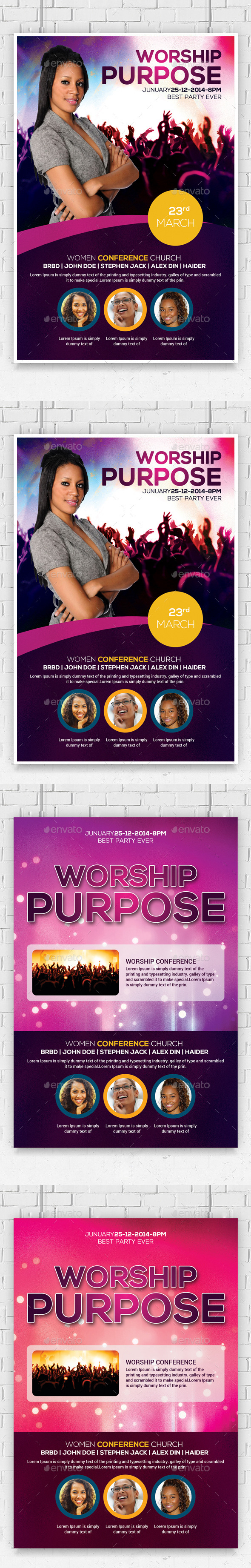 Women Conference Flyers Bundle - Church Flyers