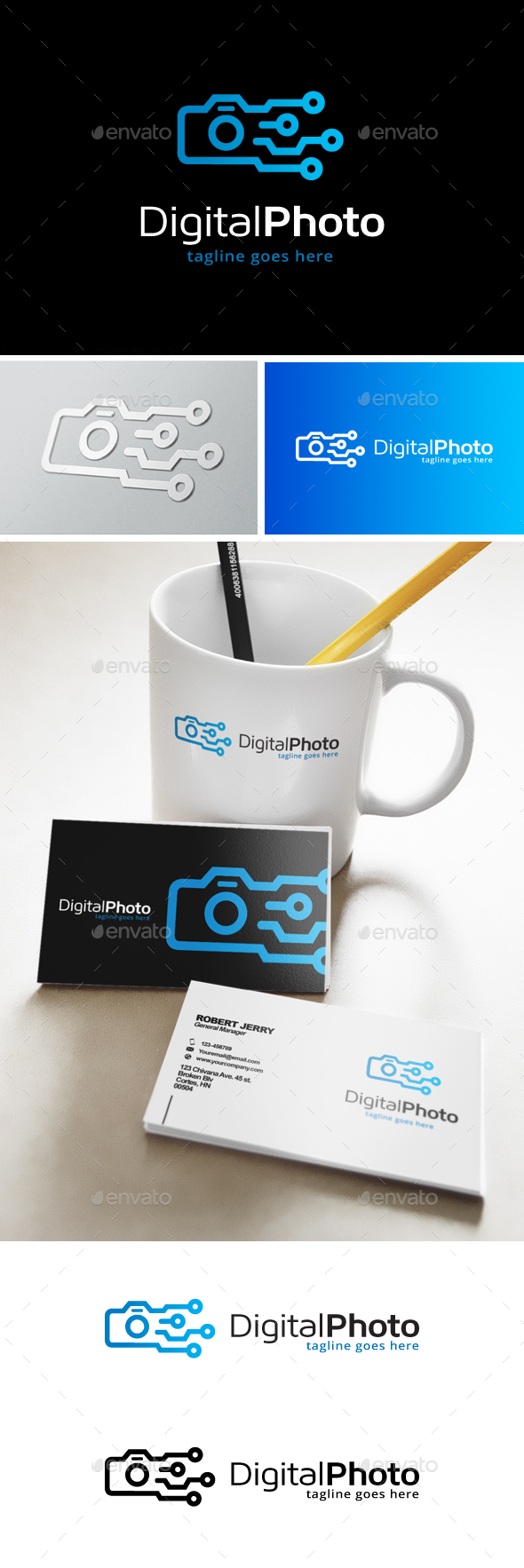Digital Photo Logo - Objects Logo Templates