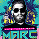 Electro House Artist Flyer v13 - GraphicRiver Item for Sale