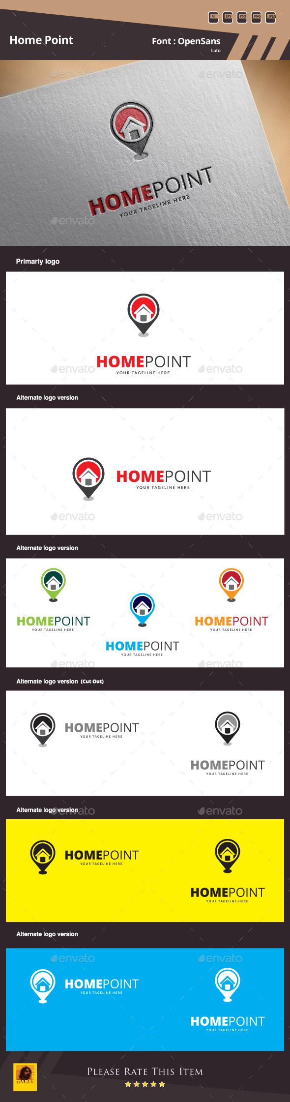 Home Point Logo - Symbols Logo Templates