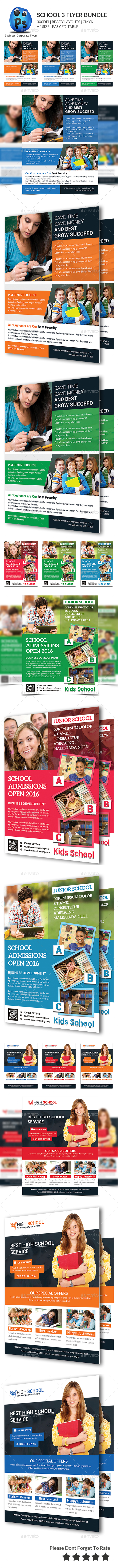 School Education Flyer Bundle - Corporate Flyers