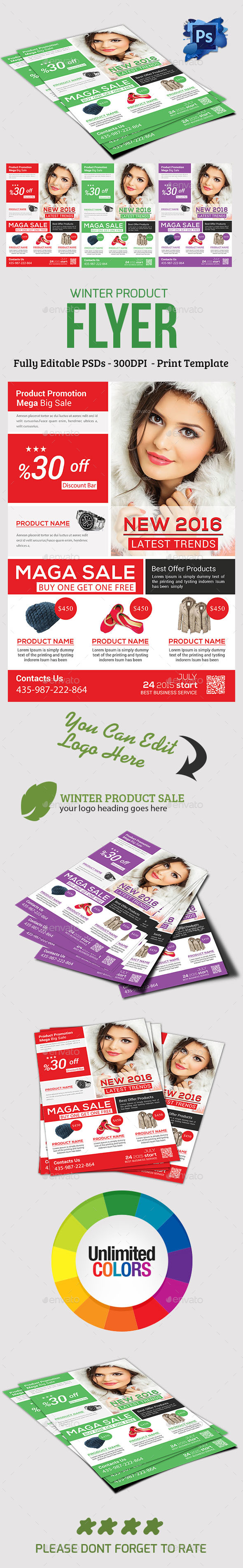 Winter Products Sale Flyer - Commerce Flyers